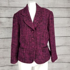 Antonio Melani Wool Tweed Blazer 3/4 sleeve Jacket